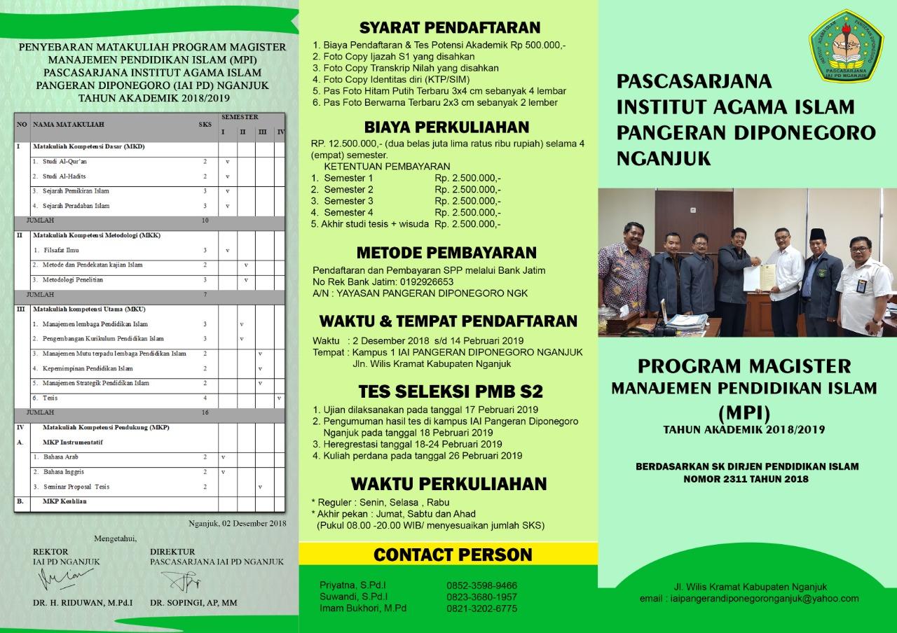 Pendaftaran Pascasarjana Tahun 2018-2019 Telah Dibuka