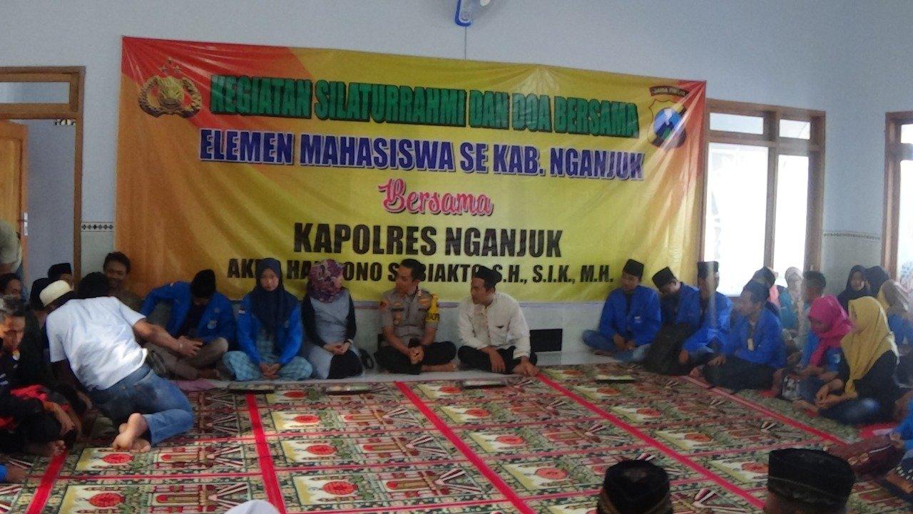 PC PMII Bersama Polres Nganjuk Adakan Sholat Ghoib Untuk Korban Demo