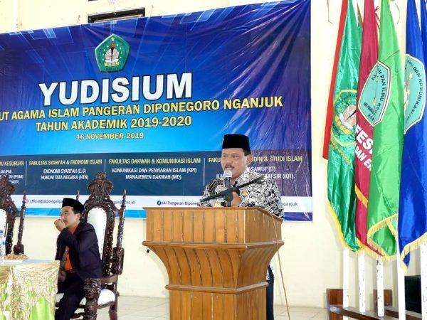 Empat Pesan Wakil Bupati Kepada Calon Sarjana IAI Pangeran Diponegoro 2019